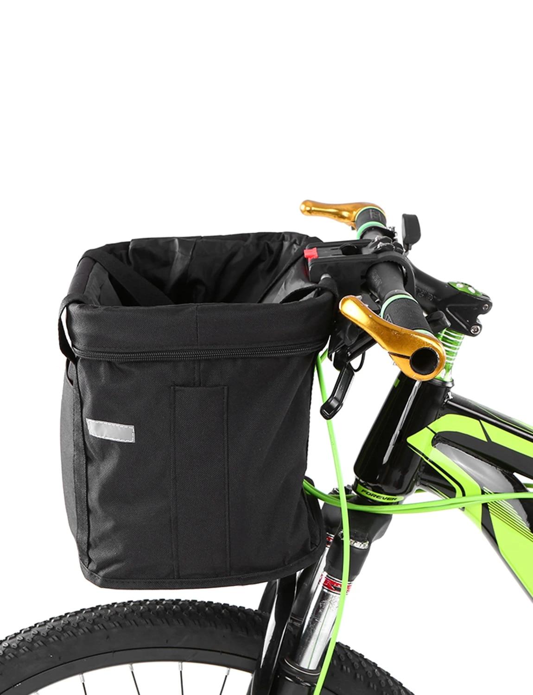 EE/_ BICYCLE HANDLEBAR BASKET BAG BIKE REFLECTIVE FRONT PANNIER TUBE WATERPROOF B
