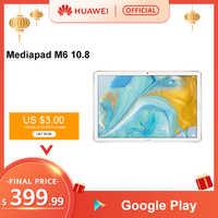 Original huawei mediapad m6 10.8 polegadas 4 gb 64 gb wifi lte kirin 980 octa núcleo android 9.0 tablet tipo-c google play gpu turbo 3.0 Usar cupom de código Ali15 ($99-$15) Ali4 ($29-$4)