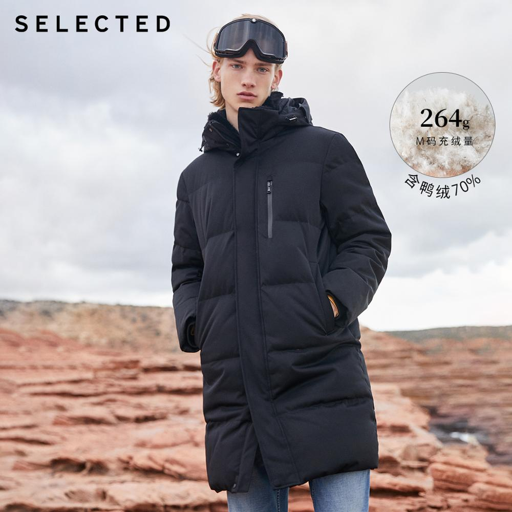SELECTED Winter Down Jacket New Duck Down Clothes Double-Collar Men's Mid-long Down Garment Warm Coat S | 418412526