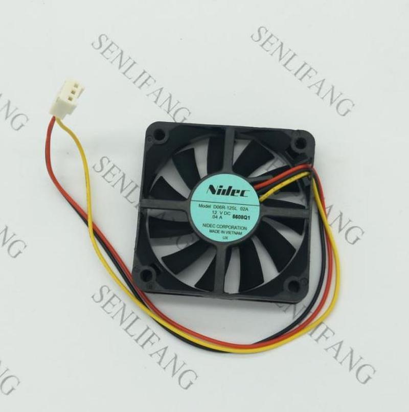 D06R-12SL 04A DC 12V 0.04A 60x60x15mm 3-wire Server Square Fan