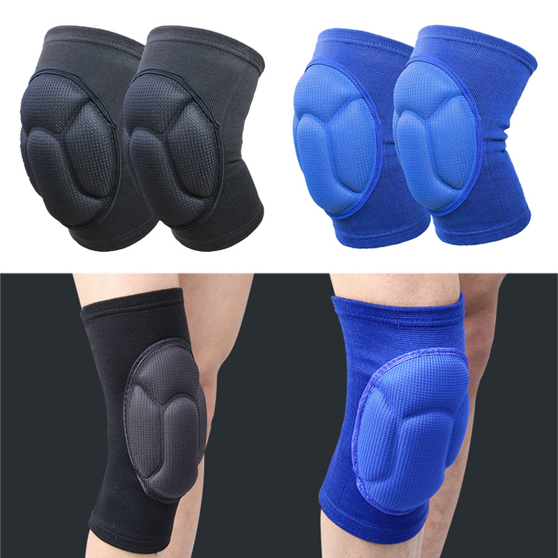 Newly 1 Pair Thick Kneepad Extreme Knee Pad Eblow Brace Support Lap Knee Protector For Football Volleyball Cycling Sports IR-ing
