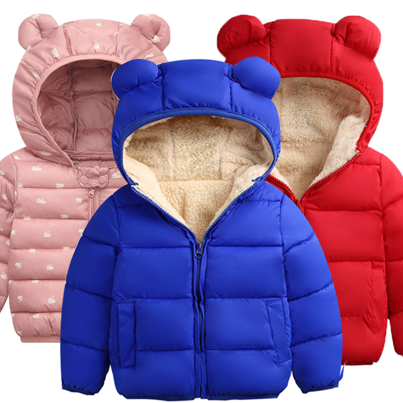 Infant Jackets Autumn Winter Newborn Baby Girls Jackets For Baby Coat Kids Cotton Warm Hooded Outerwear For Baby Boys Clothes