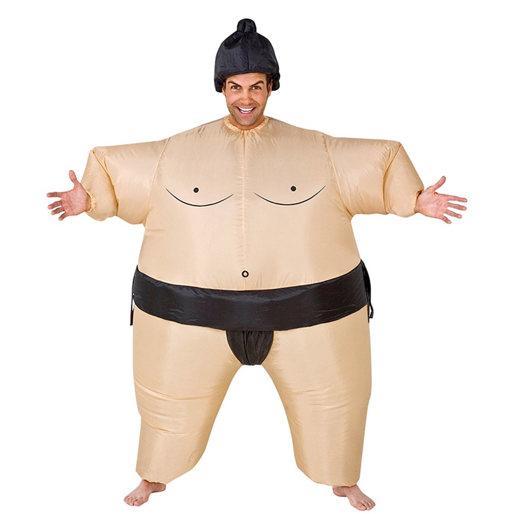 Inflatable Sumo Costume Suits Wrestler Halloween Costume for Adult/Children Fat Man Sumo Party Cosplay Blowup Costume Clothes