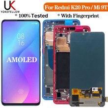6.39 AMOLED XiaoMi 9T Pro LCD ekran MI 9T çerçeve ile dokunmatik ekran Digitizer meclisi XIAOMI K20 Pro K20 lCD ekran