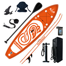 KN Inflatable SUP Stand up Paddle Board SUP, surfboard, surf board, bag, paddle, fin, air pump,foot leash