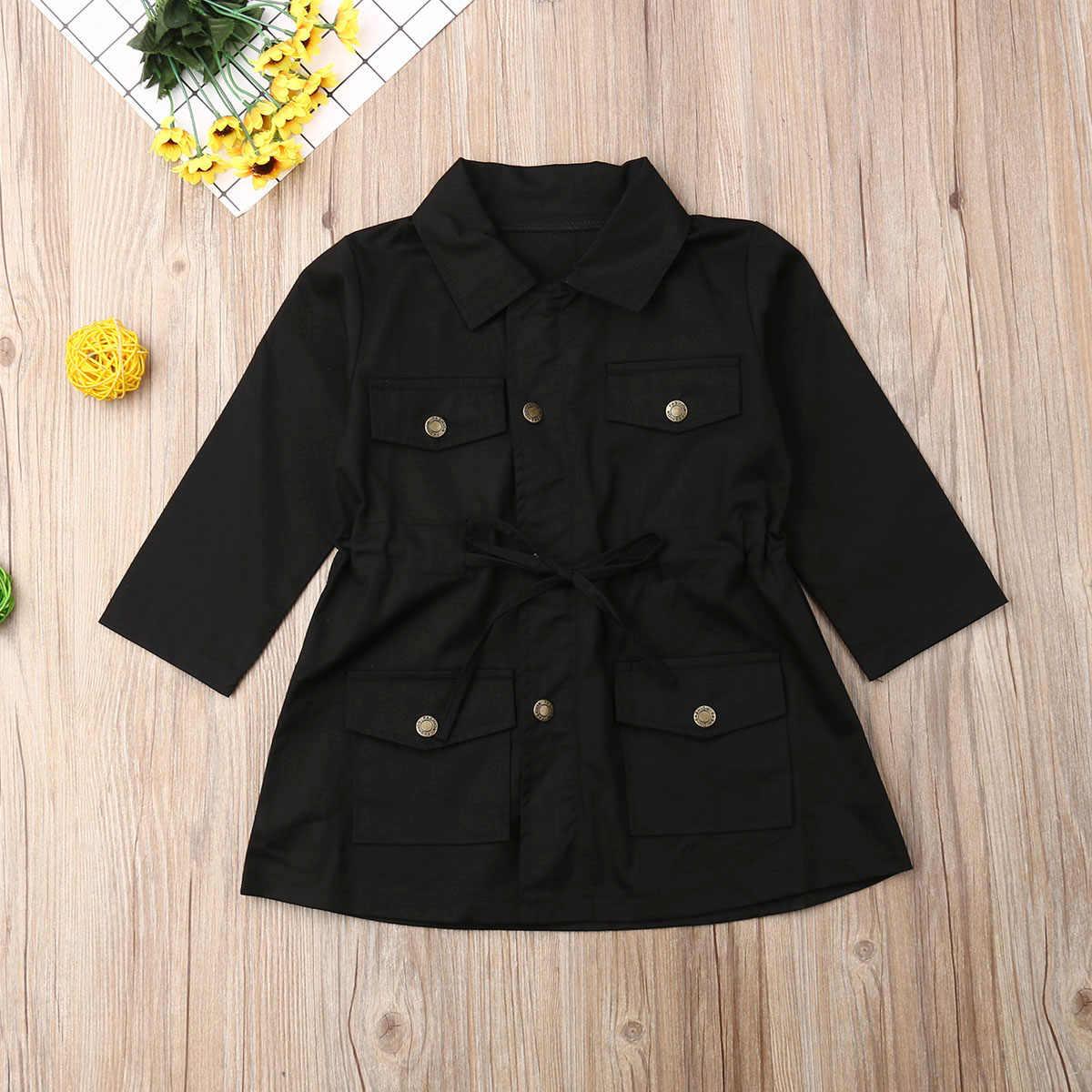 2020 אופנה תינוקות תינוק בנות בני ילדי מעיל מעיל מוצק יחיד חזה מעיל סתיו חורף חם ילדי חולצות 2-7Y