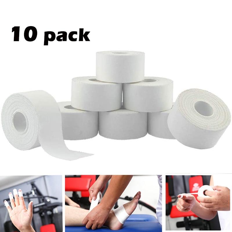 10 шт./упаковка, эластичная спортивная лента из хлопка