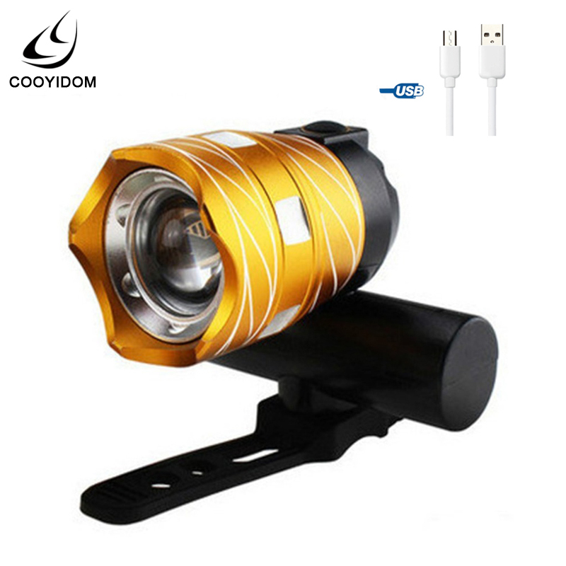 Bicycle <font><b>Light</b></font> Rear Lamp Rechargeable Battary Adjustable 15000LM T6 Led 3000mAh <font><b>Usb</b></font> Line Zoom Front Waterproof <font><b>Bike</b></font> <font><b>Light</b></font> <font><b>Set</b></font> image