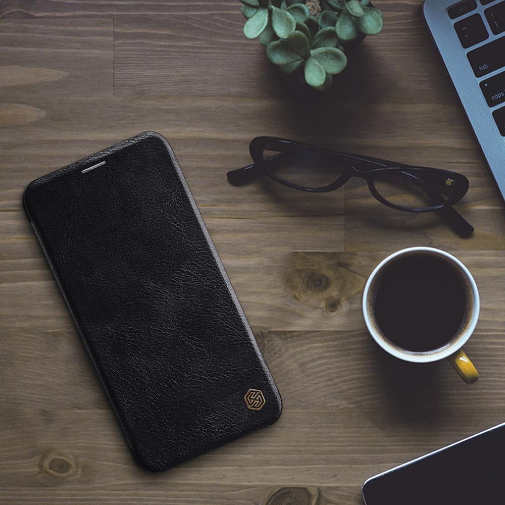 Untuk iPhone 11 Pro Max X XR XS Max Kasus Nillkin Qin Luxury Balik - Aksesori dan suku cadang ponsel - Foto 6