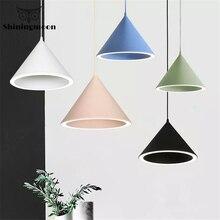 цена Nordic Minimalist LED Pendant Lights Creative Art Bar Cafe Pendant Lamp Restaurant Macarons Hanging Lamps Dinning Room Fixtures онлайн в 2017 году