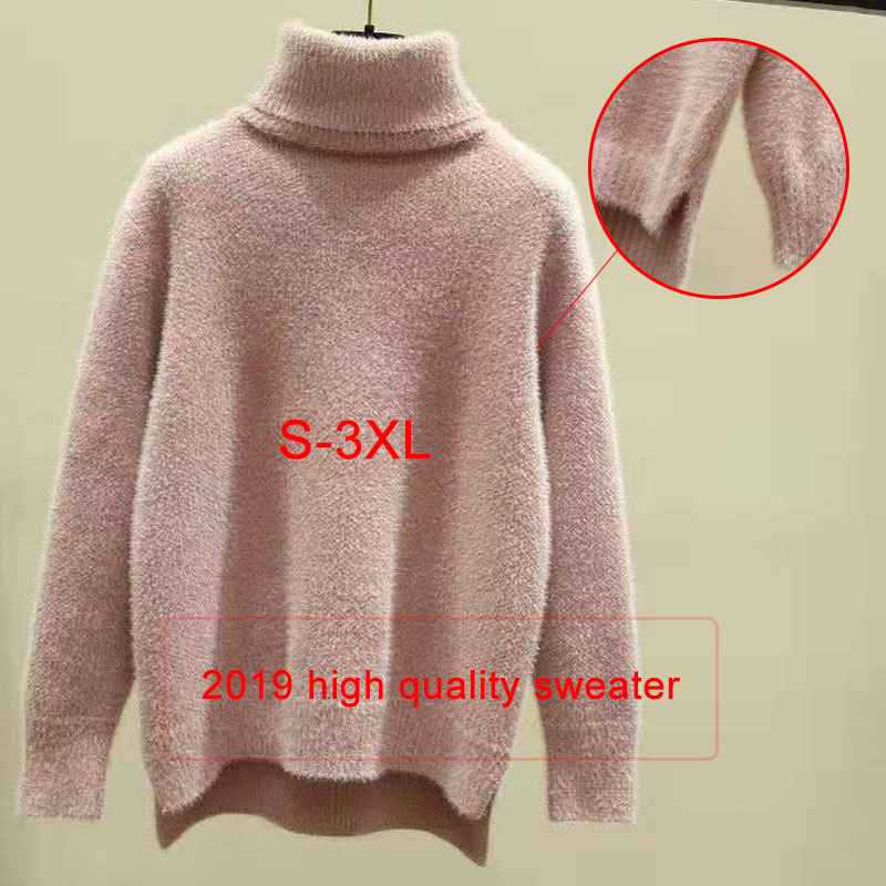 Verrassend Women Sweaters 2018 Winter Tops Turtleneck Sweater Women Thin QZ-39
