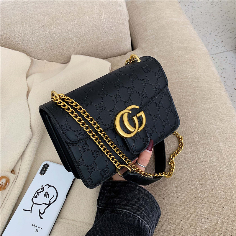 High Grade Textured WOMEN'S Bag Bags2019 New Style Korean-style Trendy Letters Square Sling Bag Chain Shoulder Small CK Bag