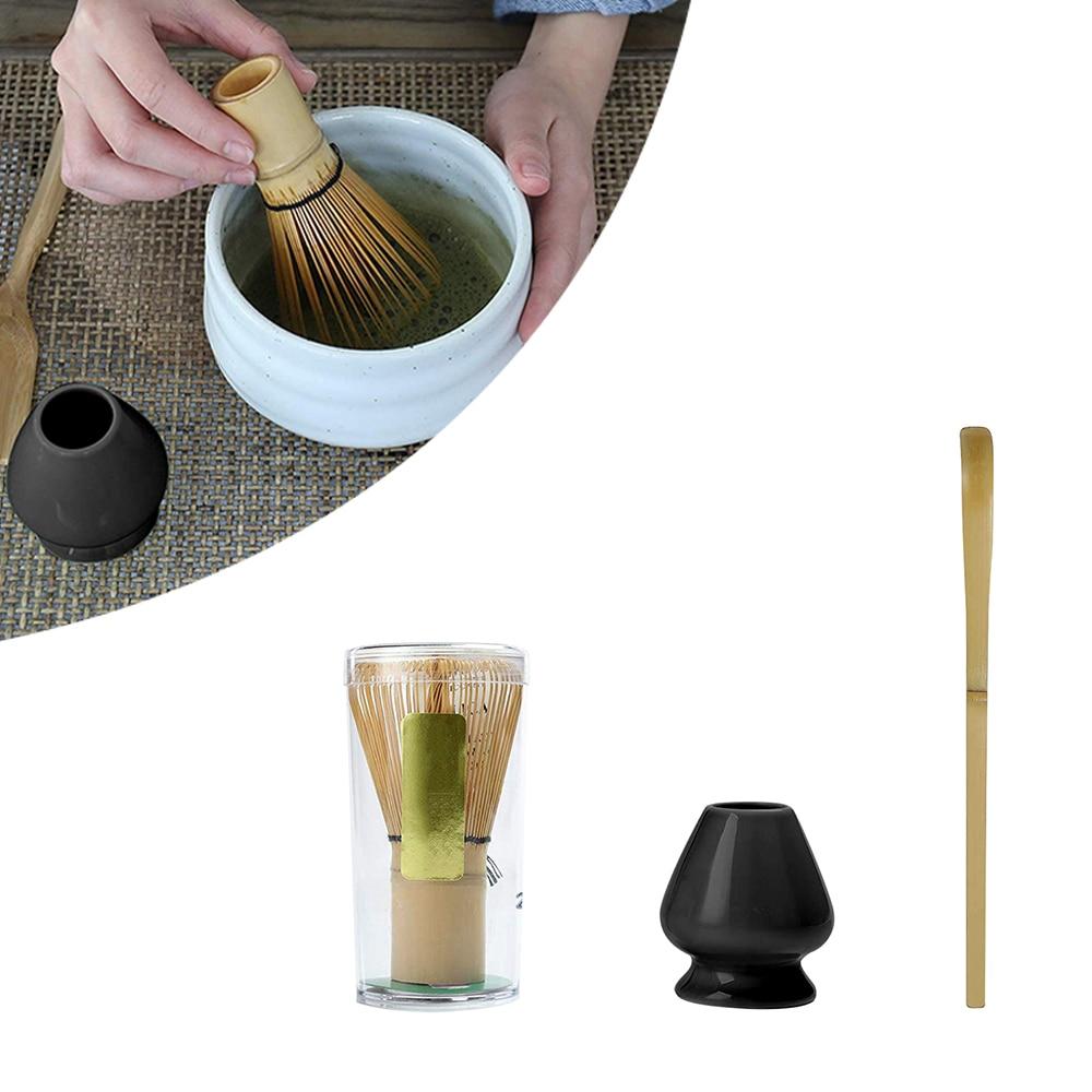 Matcha Tea Sets Japanese Ceremony Matcha Suit Bamboo Whisk Matcha Green Tea Powder Brushes Tea Tools Holder Accessories