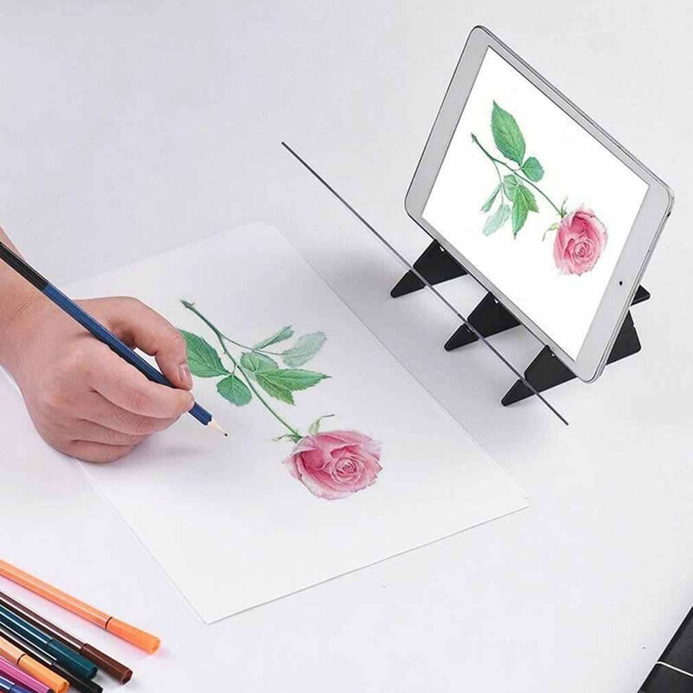 אופטי הדמיה ציור לוח עדשת סקיצה מראה השתקפות עמעום סוגר מחזיק ציור מראה צלחת התחקות שולחן פלוטר