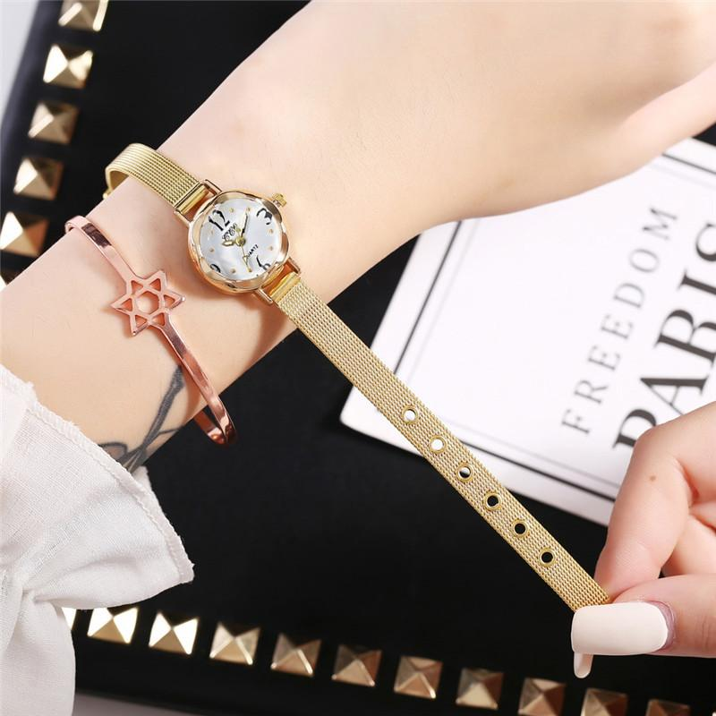 Gold Silver Stainless Steel Women Fashion Watches Qualities Leadies Bracelet Wristwatches 2019 Simple Woman Quartz Clock Hours in Women 39 s Watches from Watches