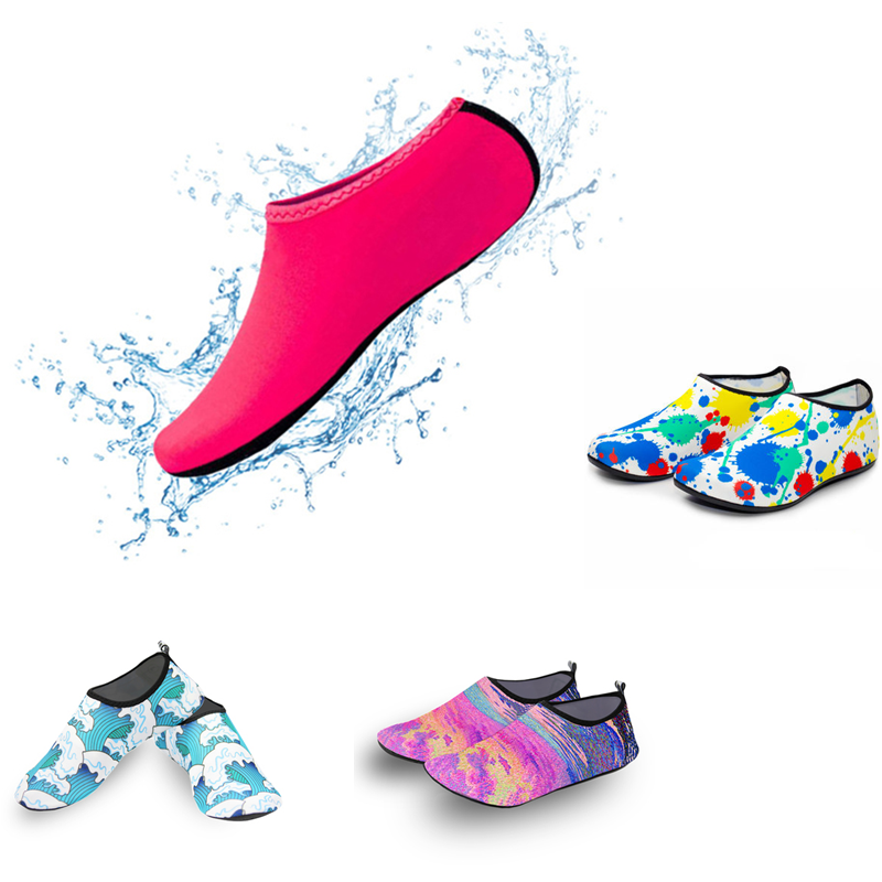 Nước Tất Bãi Biển Giày Đi Chân Trần Tập Yoga Giày Nhanh Khô Lướt Sóng Bơi Cho Nam Nữ Chân Đất Nước Da Sock