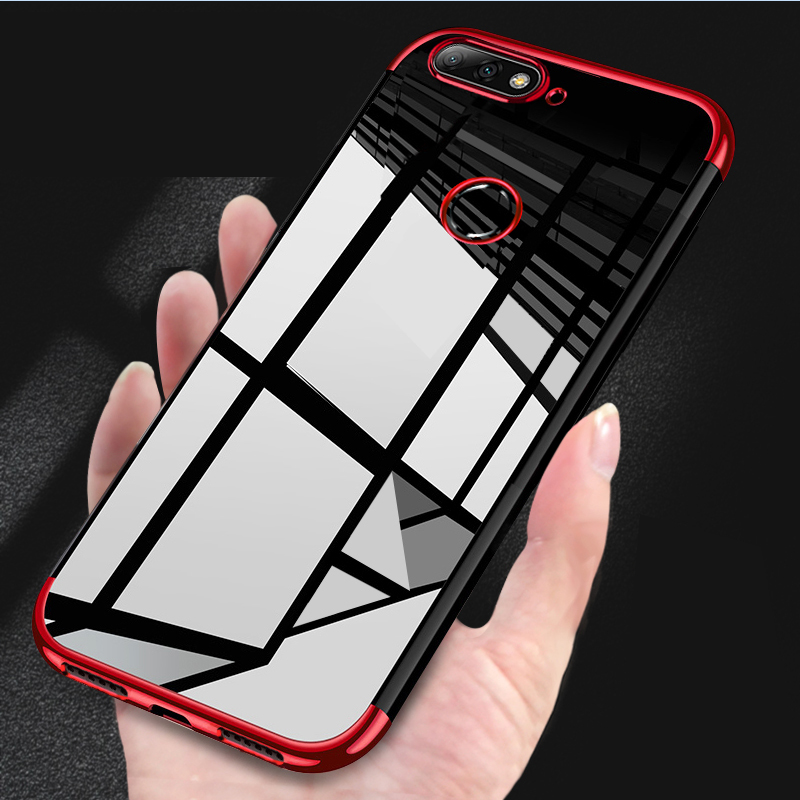 Electroplated Case For Huawei Y6 2018 Case Silicone Metallic Soft Shockproof Back Cover For Huawei Y6 Prime 2018 Case Y6 2018