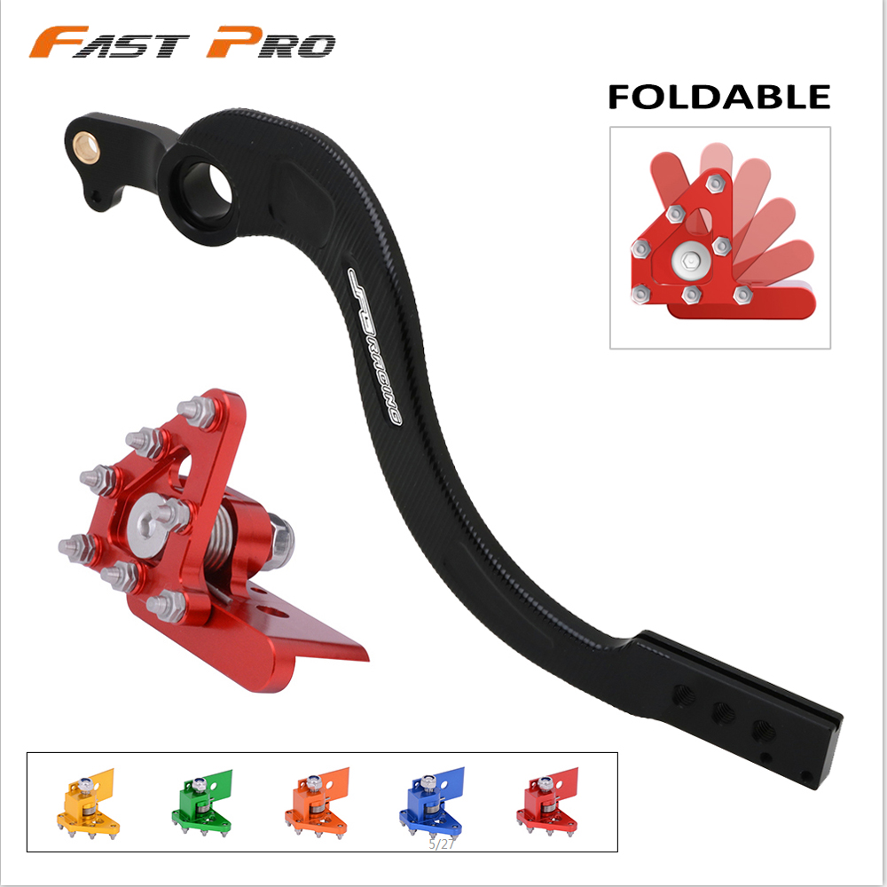 Motorcycle CNC Aluminum Rear Foot Brake Pedal Lever For Honda CRF250X <font><b>CRF</b></font> 250X 2004-2017 CRF450X <font><b>CRF</b></font> <font><b>450X</b></font> 2005-2019 image