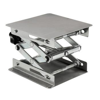 Regulowana podstawka na stół ze stali nierdzewnej stojak nożycowy podnośnik laboratoryjny podnośnik na eksperyment naukowy ławki do obróbki drewna 100X100X160m tanie i dobre opinie Lifting Platform Lab Stand