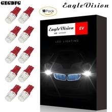 цена на 10pcs DC12V T10 Car Width Lamps Red Lighting Side Interior Lights Decoding Light