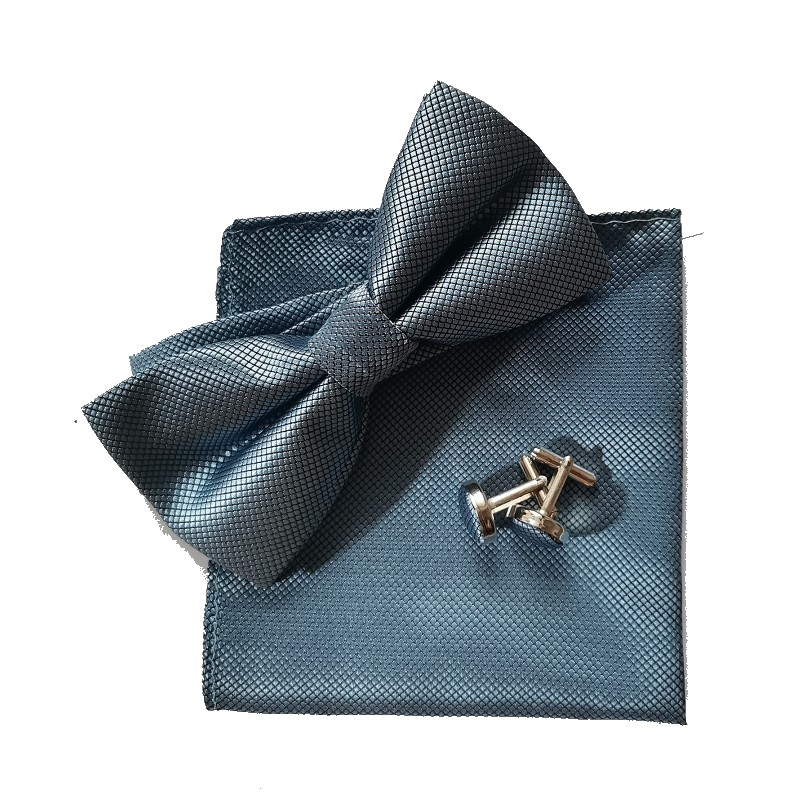 Fliege Set Taschentuch Manschettenknopf schwarz Fliege Kleid Hemd - Bekleidungszubehör - Foto 1