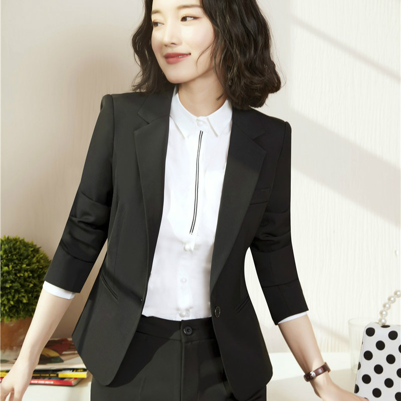New Female Elegant Formal Office Work Wear OL Women Blazers and Jackets Long Sleeve Wine Red Ladies Clothes Blazers and Jackets