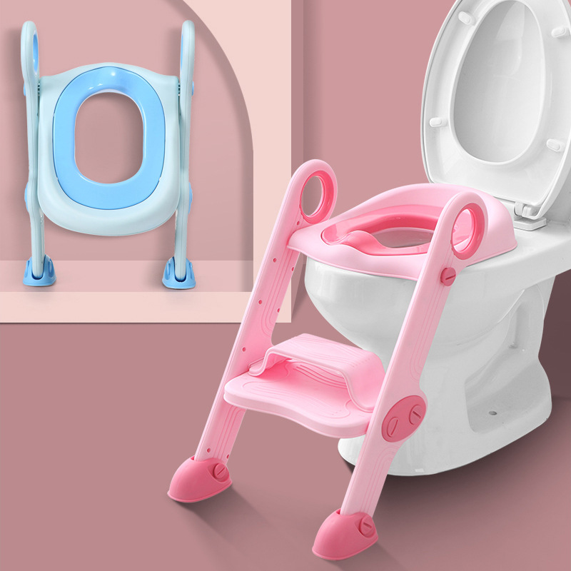 CHILDREN'S Toilet Pedestal Pan Staircase Style Folding Infant Men And Women Baby Ladder Chamber Pot Washer