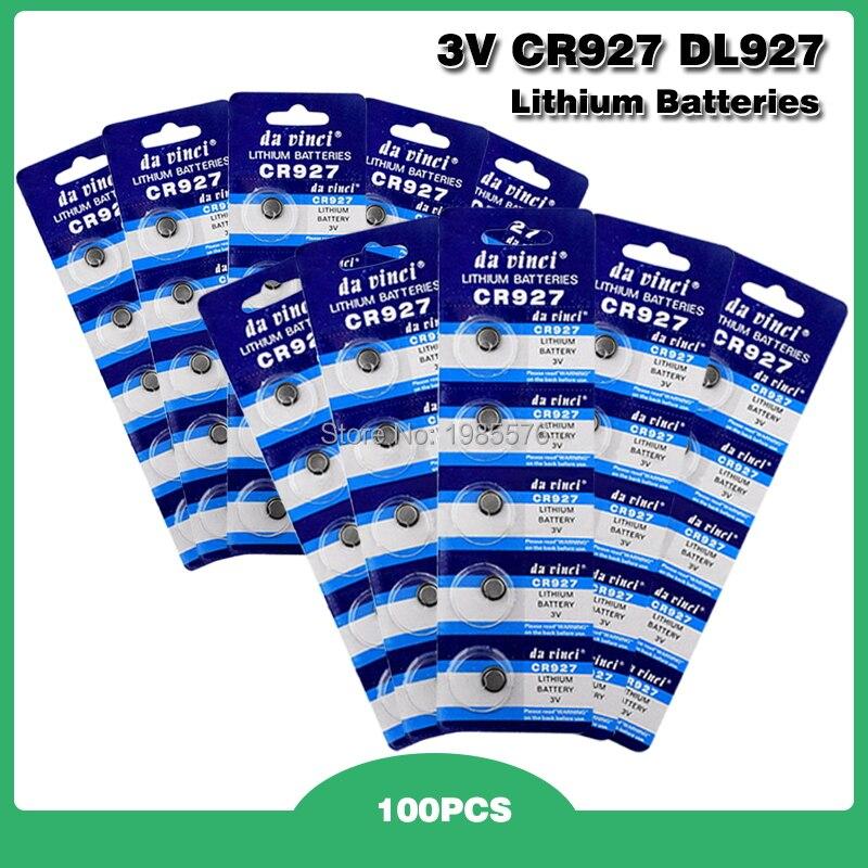 Cr927 100 unidades/pacote botão baterias br927 ecr927 5011lc pilha moeda bateria de lítio 3 v cr 927 dl927 para assistir brinquedo eletrônico remoto
