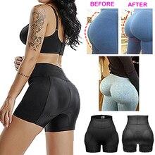נשים גבוהה מותן מזויף התחת בלתי נראה חלקה בטן בקרת תחתוני Shapewear היפ Enhancer אט שלל מרים מכנסיים Shaper
