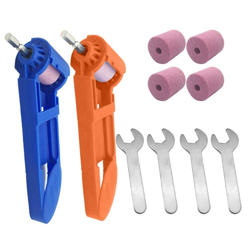 1set Corundum Wheel Drill Sharpener 2-12.5mm Portable Drill Bit Sharpener Corundum Grinding Wheel For Tools For Drill Sharpener
