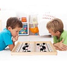 Деревянная настольная игра пазл катапульта шахматный бампер