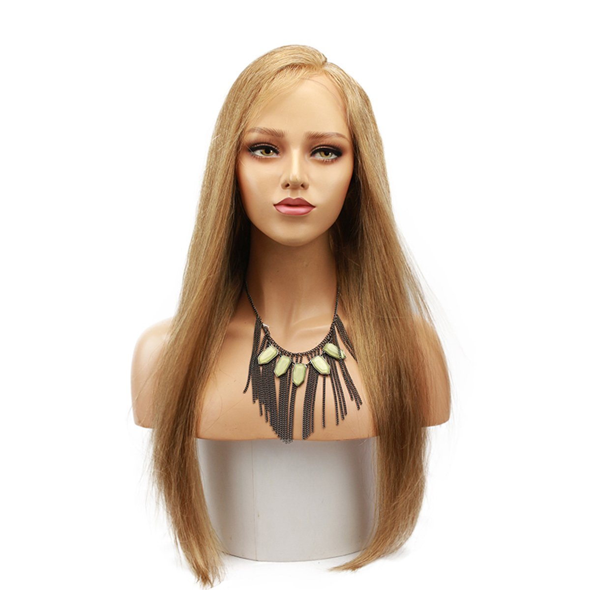 #18 Pure Blonde 13x4 Lace Front Human Hair Wigs for Women Brazilian Remy Hair with Baby Hair Pre-Plucked Natural Hairline 130 D