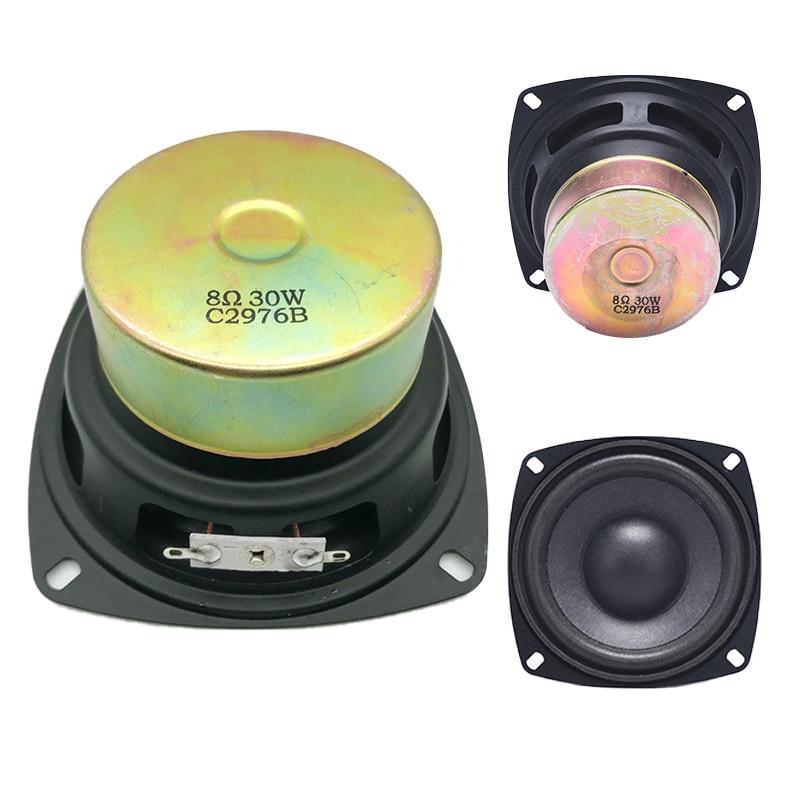 1pc  Antimagnetic Horn Audio Portable Speakers 4 Inch 8 Ohm 30W Full Range Speaker Computer Car Multimedia Game Accessory