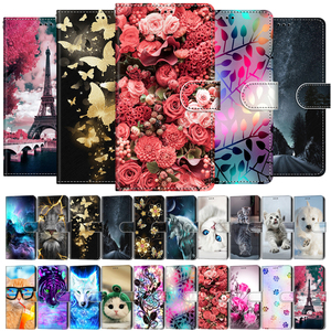 Image 1 - Etui On For OPPO A15 Case Wallet Flip Leather Case For OPPOA A 15 A15s CPH2185 CPH2179 6.52 inch Cute Animal Phone Cover