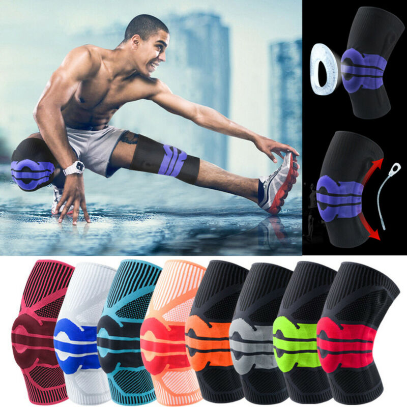 Sports Knee Pads Knee Protector 1Pcs Men Pressurized Elastic Sport Kneepad Support Fitness Gear Basketball Volleyball Brace
