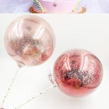 Ins doğum günü kek süsleri tüy altın soğan tozu kağıt artıkları Net kırmızı yaratıcı tatlı masa takın marka Bobo Balloon178