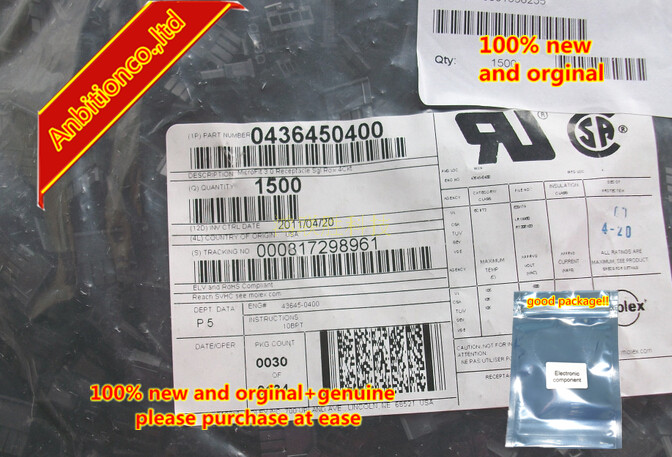 10-100pcs 100% New Original Connector 43645-0400 0436450400 In Stock