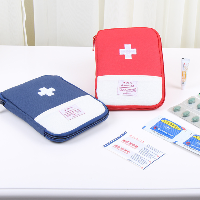 Portable Outdoor First-aid Kit Travel Bag Small Drug Package First Aid Medicine Bag Case Emergency Kit Storage Bags Accessories