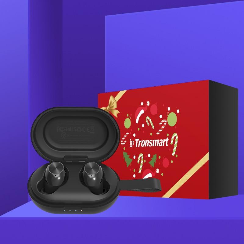 Tronsmart Spunky Beat TWS Bluetooth écouteur QualcommChip Tech APTX écouteurs sans fil avec CVC 8.0, Assistant vocal, 24H Playtime