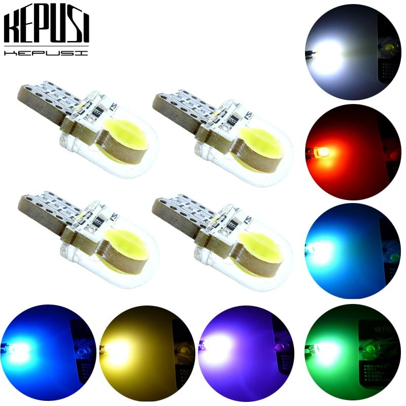 4x T10 194 168 W5W COB 8 SMD LED CANBUS Silica ICE Blue License Light Bulb 12V