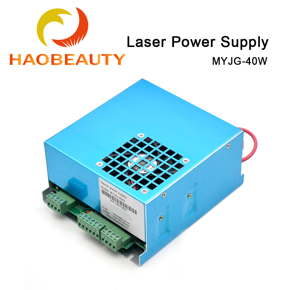HAOBEAUTY MYJG-40 CO2 Laser Power Supply 40W 110V/220V For CO2 Laser Tube High Voltage Engraving Cutting Machine