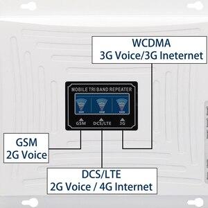 Image 4 - Amplificador GSM DCS WCDMA 900 1800 2100, amplificador de señal móvil 3G 2G de tres bandas 4G LTE, repetidor celular GSM 3G 4G