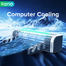 LLANO Base Notebook Stand Cooling Rad Speed Adjustable Notebook Cooler Desk Fan Laptop Cooler Stand Computer Tablet Phone holder