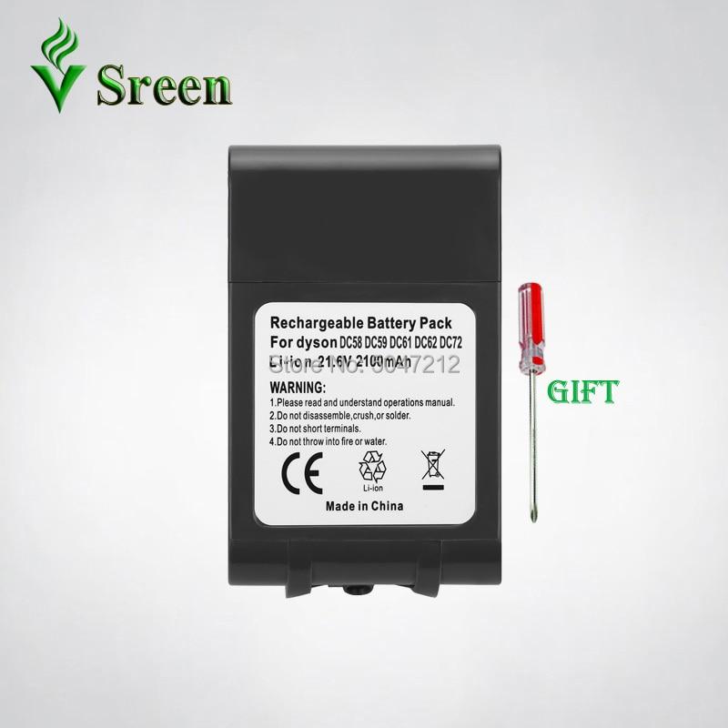 V6 Series 2100mAh 21.6V for DYSON Li ion Rechargeable Battery Replacement 965874 02 DC61 DC62 DC72 DC58 DC59 DC74 Battery|Replacement Batteries| |  - title=