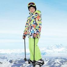 2020 بدلة تزلج للأطفال العلامة التجارية الجديدة عالية الجودة الأطفال يندبروف مقاوم للماء سترة الثلوج الشتاء الصبي التزلج و سترة على الجليد