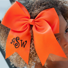 School Bow Personalized embroidery with Letters & Name,  Hair Pattern customization cheer bows