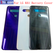 Battery Cover Rear Door Panel Housing Back Case For LG K61 Battery Cover with Logo Replacement Part