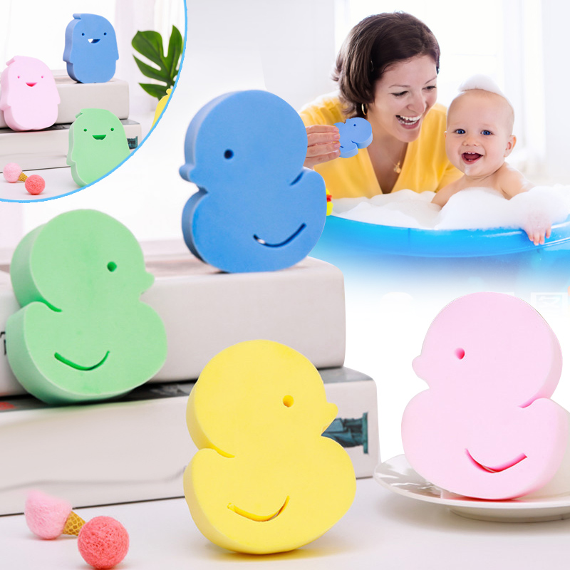 2019 Hot Exfoliating Bath Sponge Cartoon Shape Foam Rub Shower Sponge Soft Scrubber Brush For Baby Kids Adults  T6