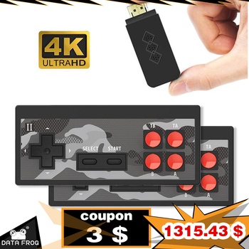 DATA FROG 4K HD Video Game Console Built in 1700 Classic Games Mini Retro Dendy Game Console Wireless Controller TV Output 1