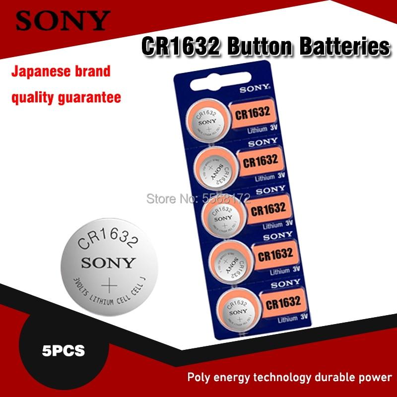 5 шт., Литиевые Батарейки для SONY CR1632 CR 1632 ECR1632 DL1632 KCR1632 LM1632 3 в